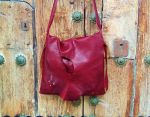 123€. 33x34cm. burgundy-shoulder-bag-organic-design