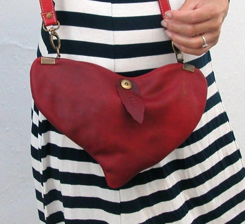 unique designer heart shoulder bag