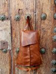 lovely rich brown leather backpackby FG handmade leather bags
