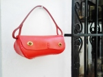 Red 'baguette' bag by FG handmade bags