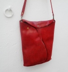 red organic design shoulder bag by FG