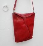red organic design shoulder bag by FG