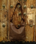 75€. Simple soft brown shoulder bag by FG