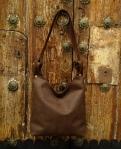 75€. Simple soft brown shoulder bag by FG
