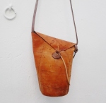 unique bag with bark-like leather by FG handmade bags