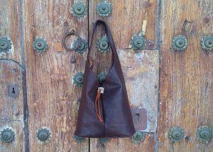 57€. Triangle wine bag by FG handmade bags