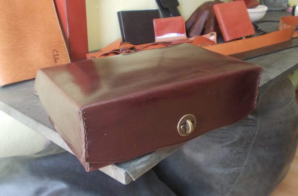 Lovely hand-crafted leather box by FG