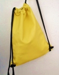 yellow backpack designed by fg handmade leather bags
