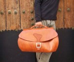 Large travel bag handmade and modelled by Fernando Garcia