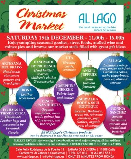 And this is the poster for the Christmas Market at Al Lago...