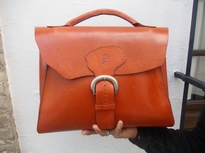 190€. Briefcase from highest-quality vegetable-tanned cow's hide