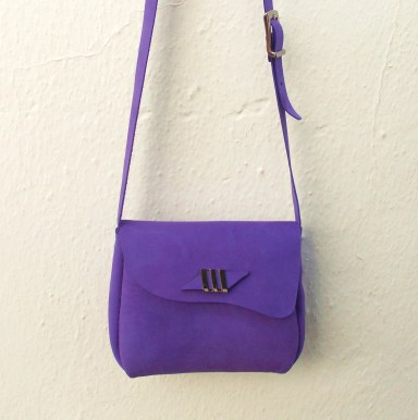 bespoke dark-amethyst shoulder bag by FG