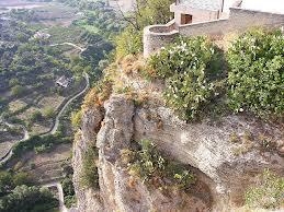 The amazing drop into the  'tajo' of Ronda, Málaga.
