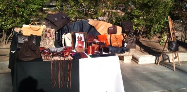 FG handmade bags in the Ronda Craft Market