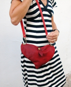 Valentine´s bag in matt red leather by FG handmade bags