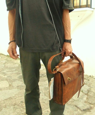 custom-made briefcase by FG handmade bags leather