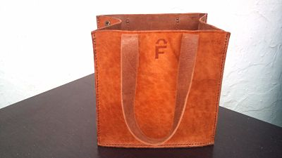 custom-made for Jo by FG handmade leather bags