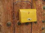 mustard yellow shoulder bag in a lovely vegetable-tanned leather
