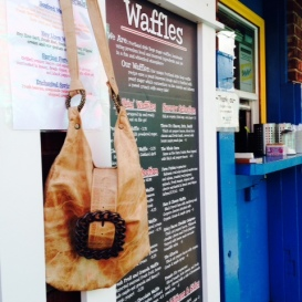 Kris´s handmade purse in Portland´s Waffle Window