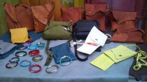 Bags and bracelets for Sangre Española