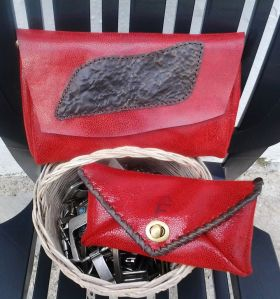 red and black clutches by Fernando Garcia