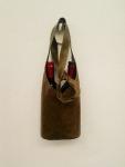 58€. Leather unique shoulder or handbag for wine bottles