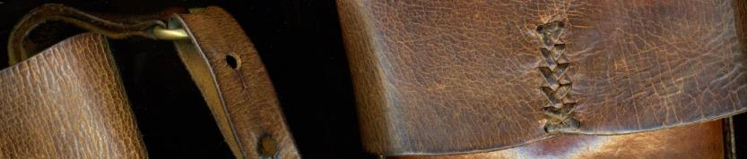 detail of vintage fg bag