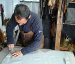 Fernando working on the first draft of one of the designs