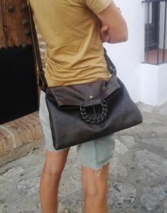 big buckle shoulder shopping bag by FG