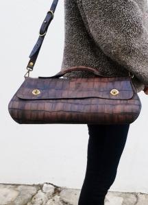 original imitation crocodile doc style bag by FG handmade bags