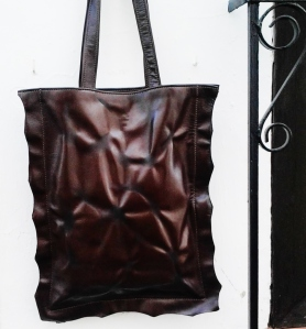 68€. unique bags by fghandmade bags crinkly design