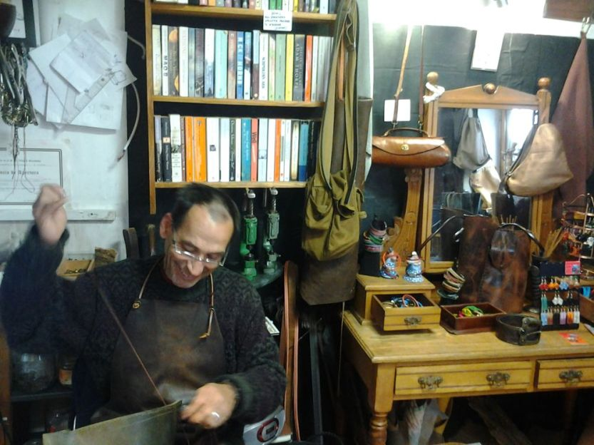 Fernando in the Tienda Chica workshop