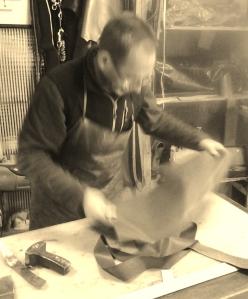 Fernando in his Grazalema workshop
