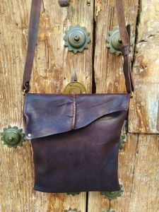 small organic shoulder bag oiled leather