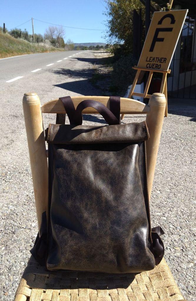 FG backpack outside the 'Venta Vieja'
