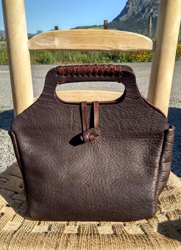 73€. handbag with stitching detail